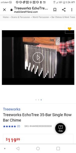 Wind (Bar) Chimes By Treeworks:  Tre 35xo Thumbnail