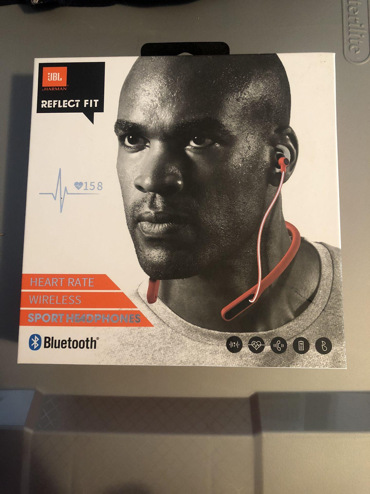 JBL Reflect Fit Heart Rate Wireless Bluetooth Sport Headphones