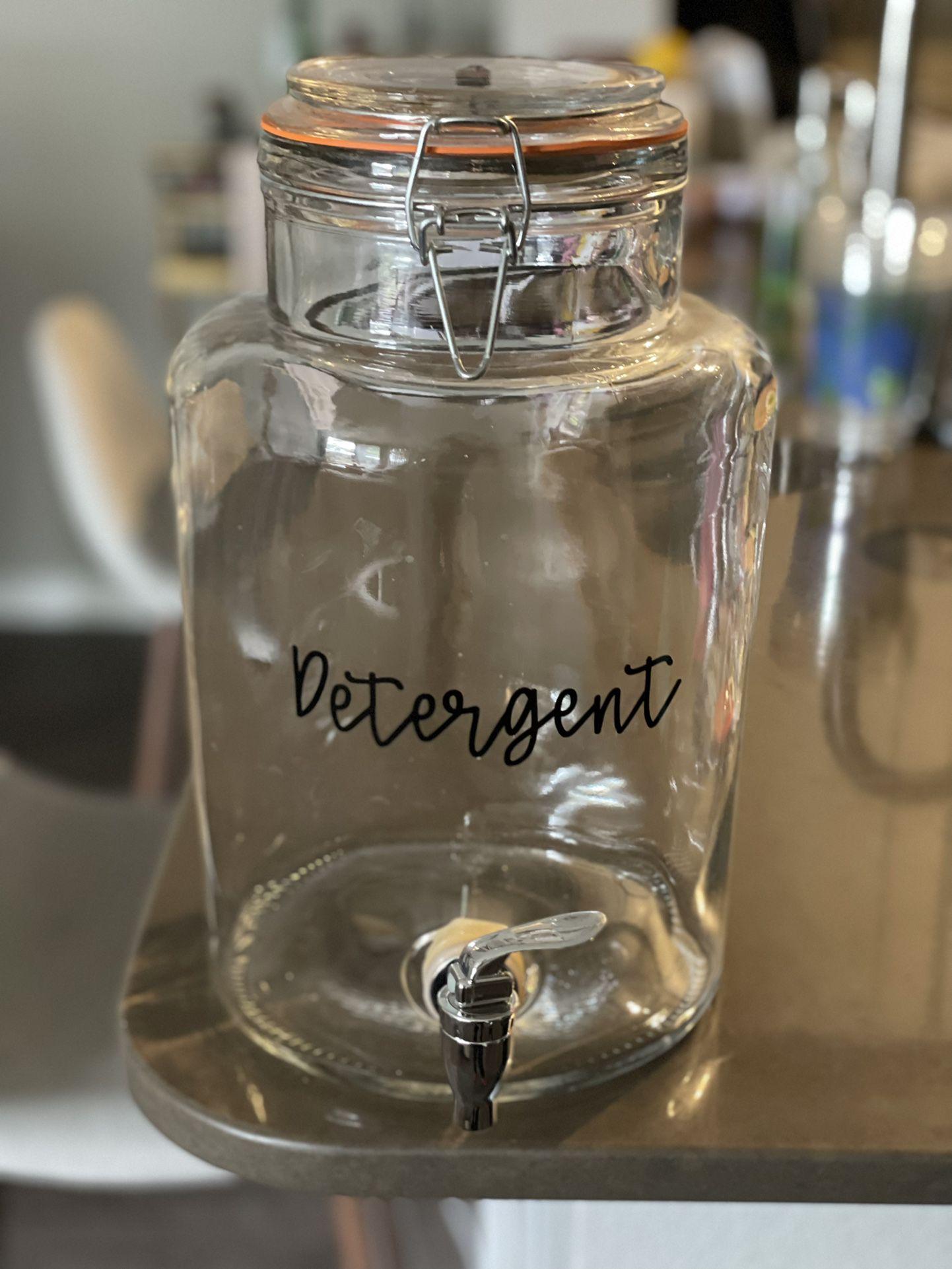 Laundry Detergent Glass Jar