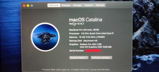 Macbook Pro 15 2016  Thumbnail