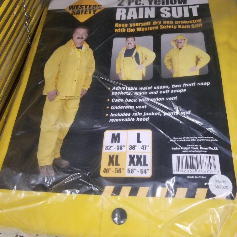 2 Pcs Rain Suits Any Size