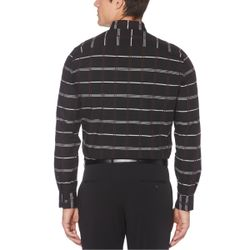 Perry Ellis Mens Button-Front Black Size Extra Large Thumbnail