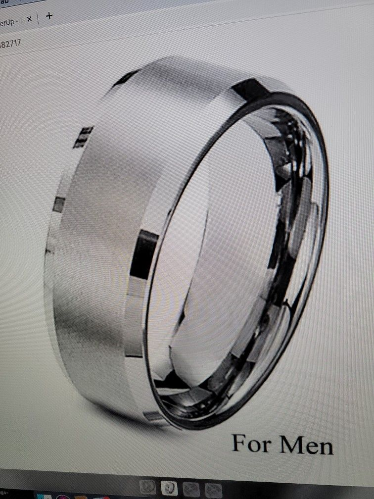1 Set Of His And Hers Fashion Stainless Steel  Titanium Princess  Wedding Band Set