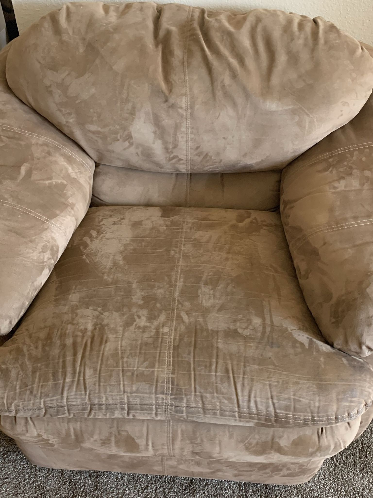Brown Couch With Oversized Chair