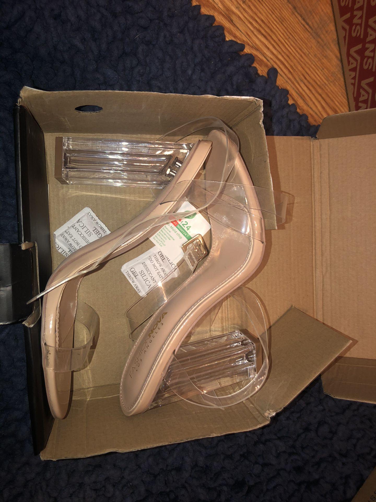 Transparent Block heels