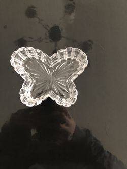 Butterfly glass, ring holder, butterfly, glass decor Thumbnail