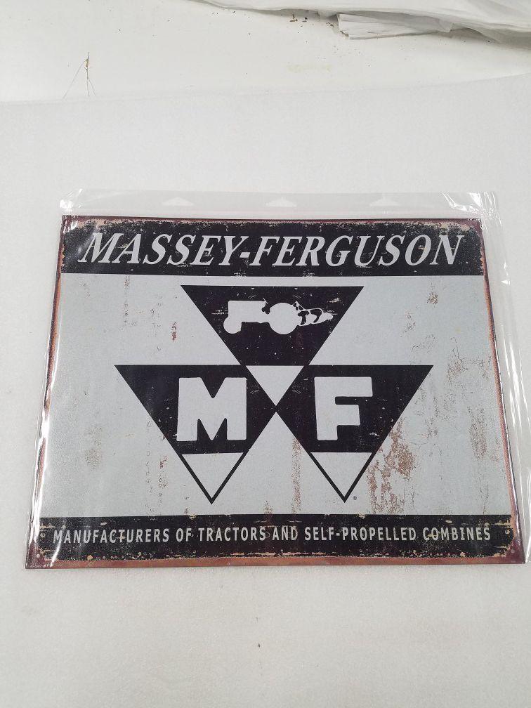 Massey Ferguson farm tractor logo metal sign