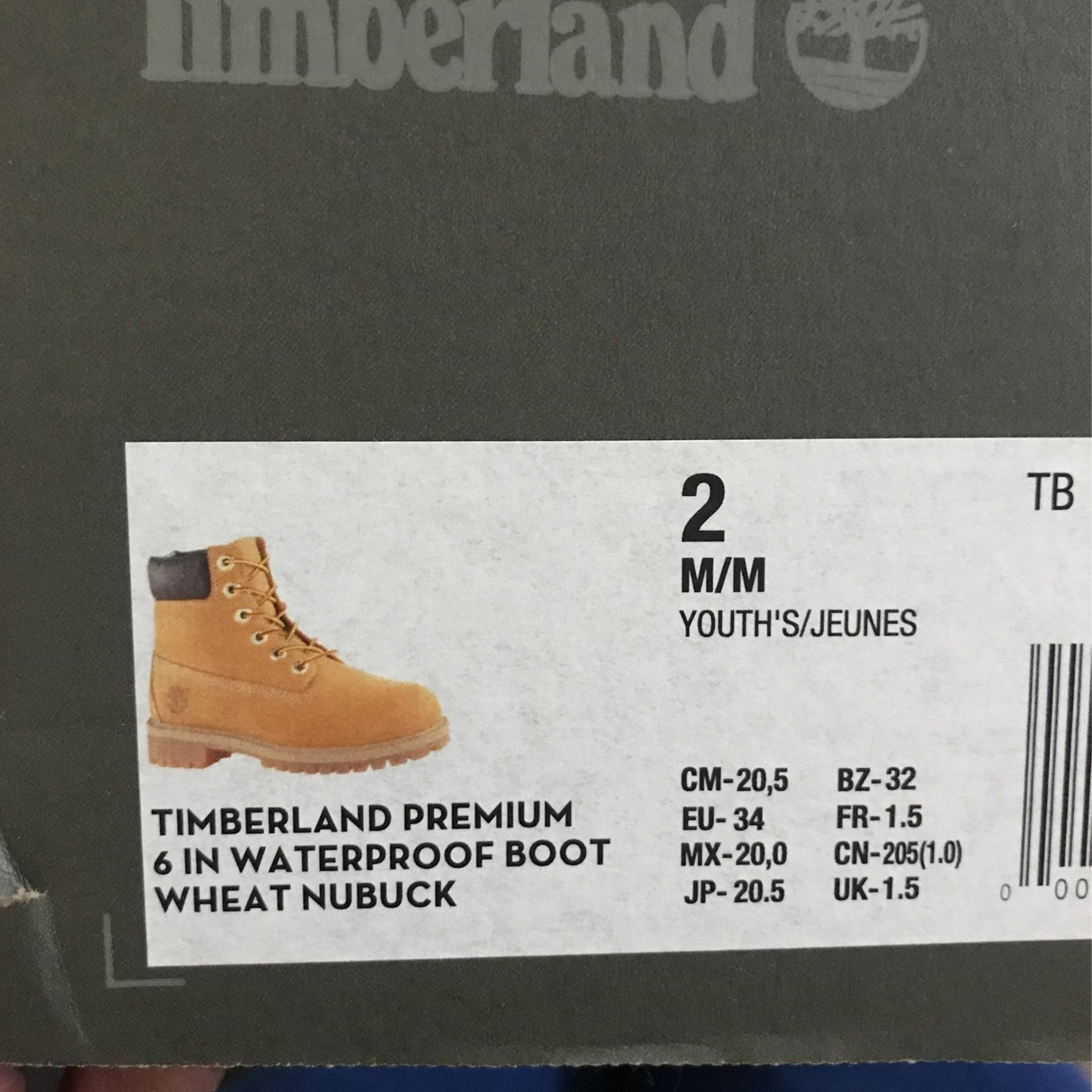 Size 2 Timberland Boots Never Worn