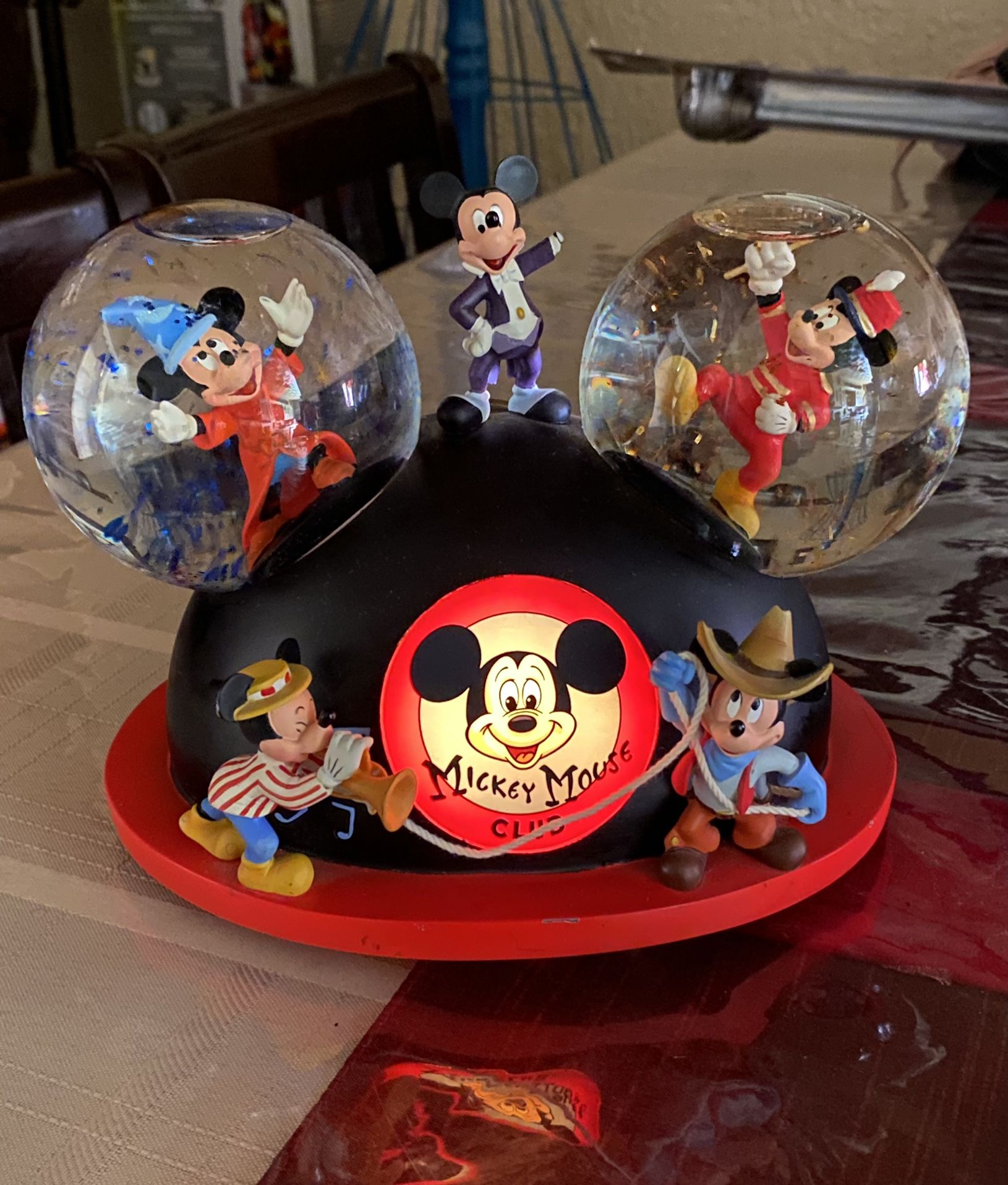 Mickey Mouse March Ears Musical Globe