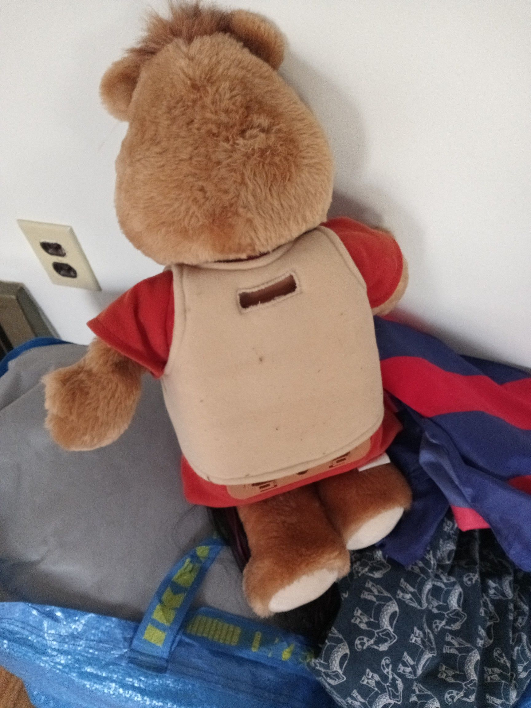 The real teddy ruxpin that works and talks