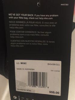 (New) Nike Trout Vapor Baseball Bat Backpack Black with Laptop Sleeve Thumbnail
