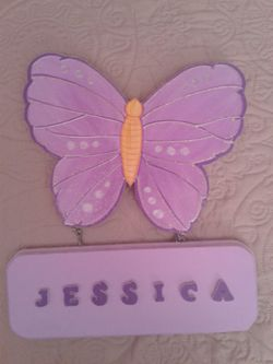 Butterfly decoration with a name Thumbnail