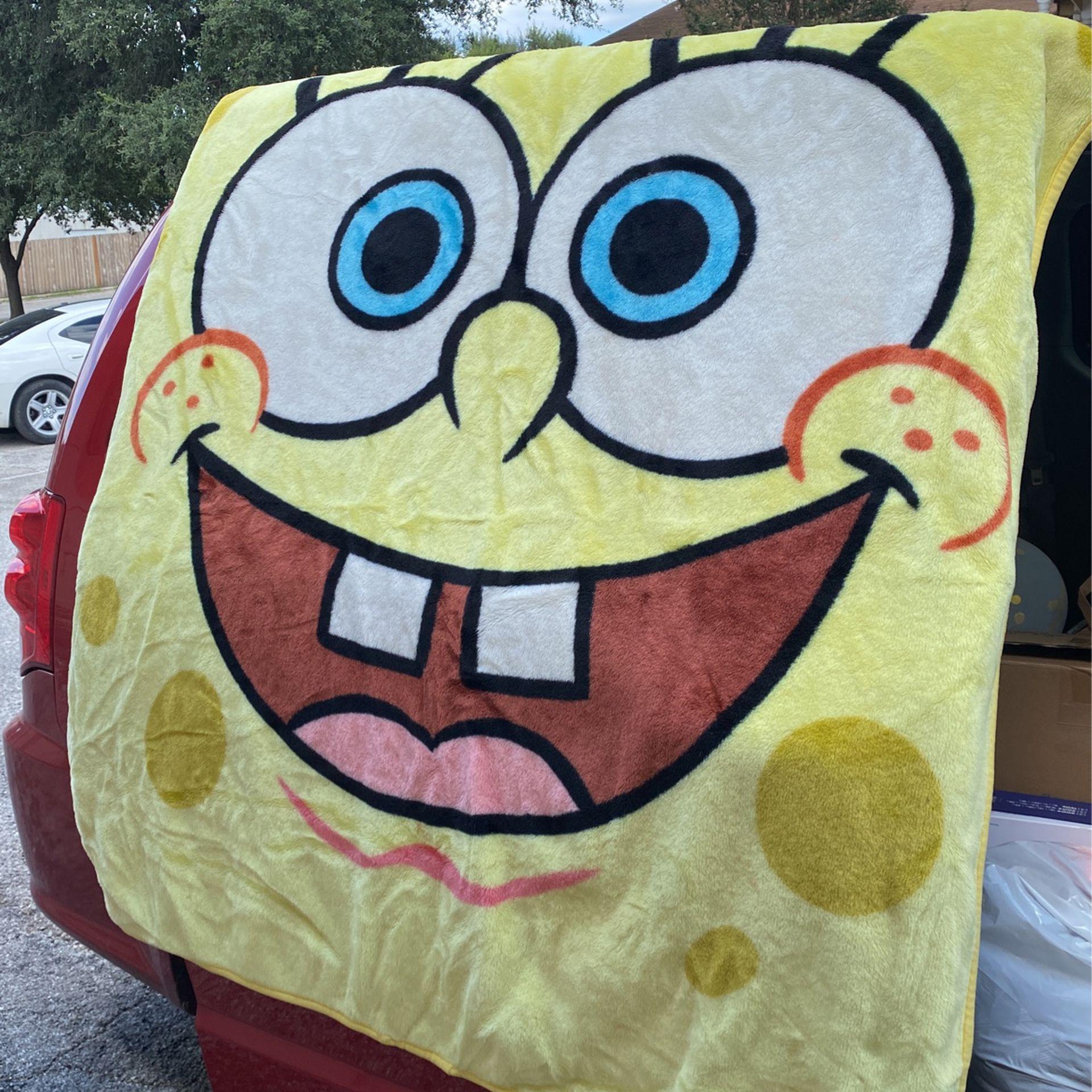 """Sponge Bob Fuzzy Blanket, 53""""x62"""""""