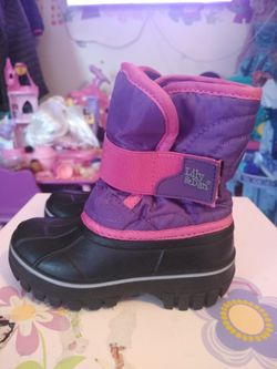 LILY & DAN Girls Toddler Winter Snow Boots Pink Purple Size 7/8 Toddler like new Thumbnail