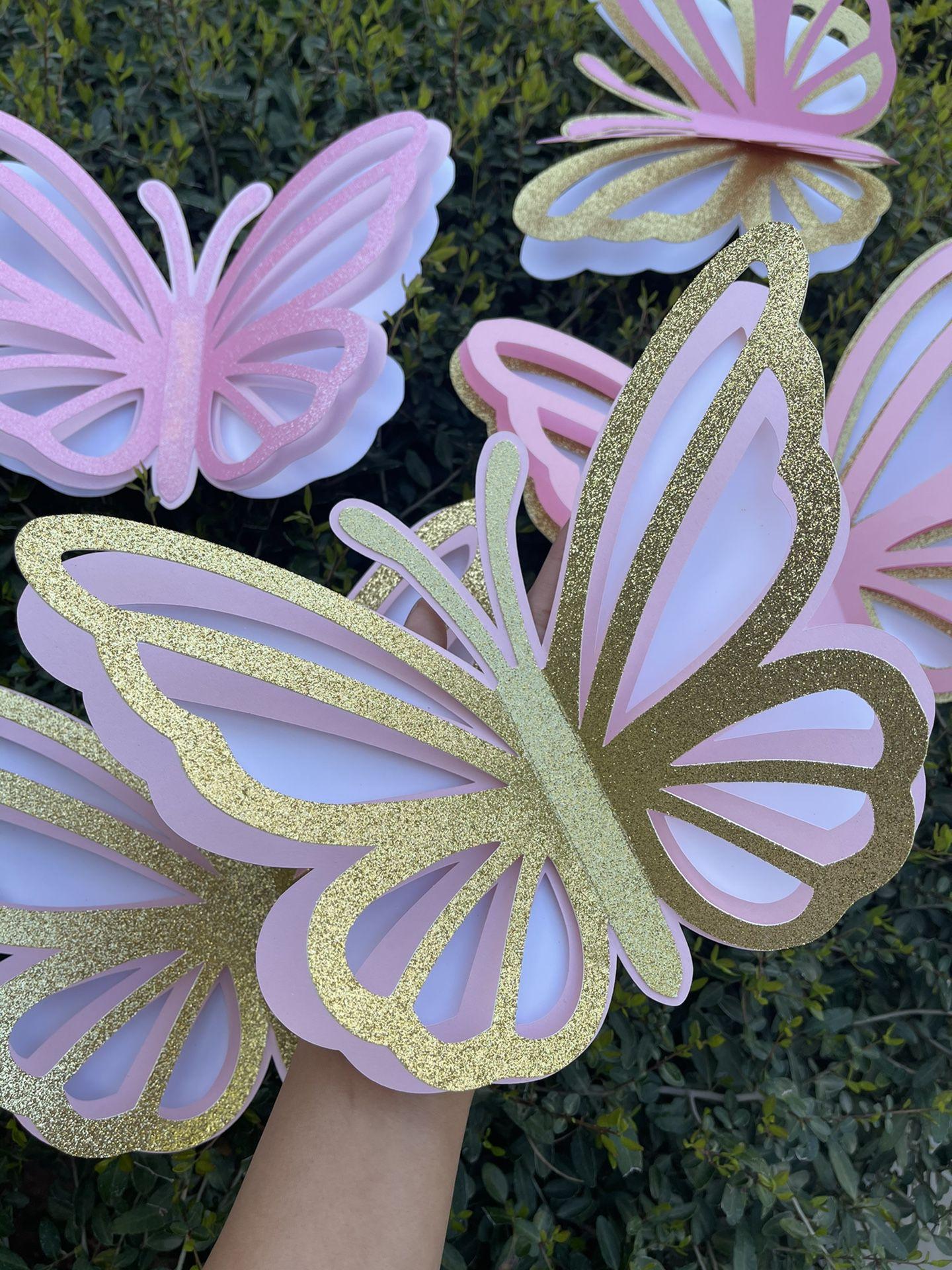 3D Large Butterflies