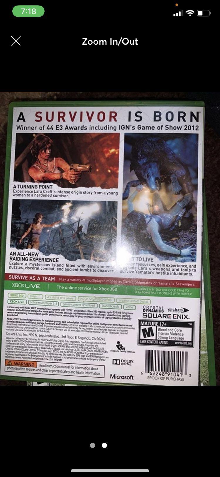 Xbox 360 Tomb Rider