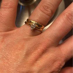 14k Simple Beautiful Gold Wedding Set  Thumbnail