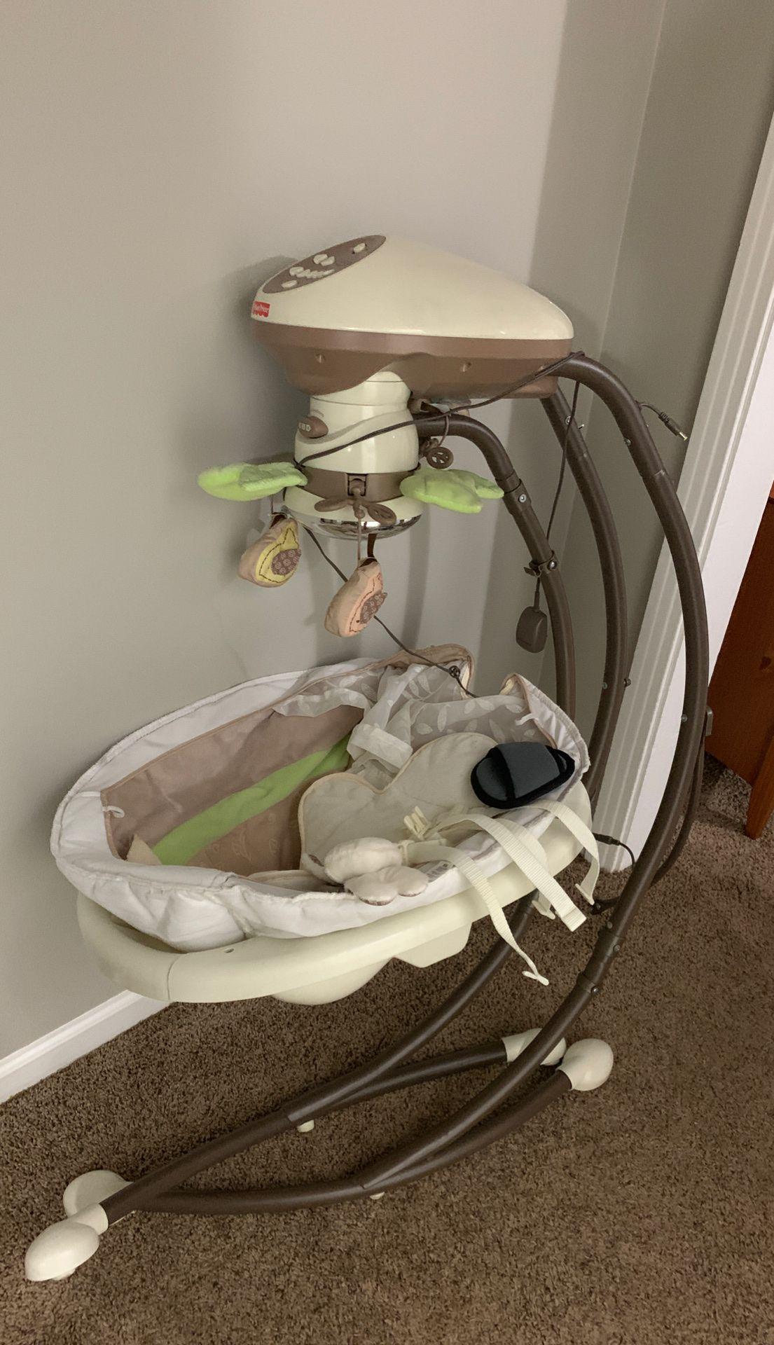 Fisher-Price My Little Snugabunny Cradle 'n Swing with 6-Speeds