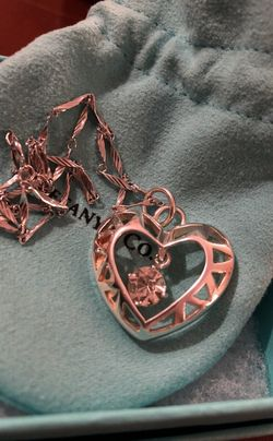 TIFFANY PENDANT WITH STERLING SILVER CHAIN! Thumbnail