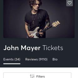 John Mayer Tickets For Sale (2) Thumbnail