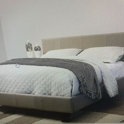 Queen Platform Bed Frame ( Mattress Not Included ) ON SALE Thumbnail