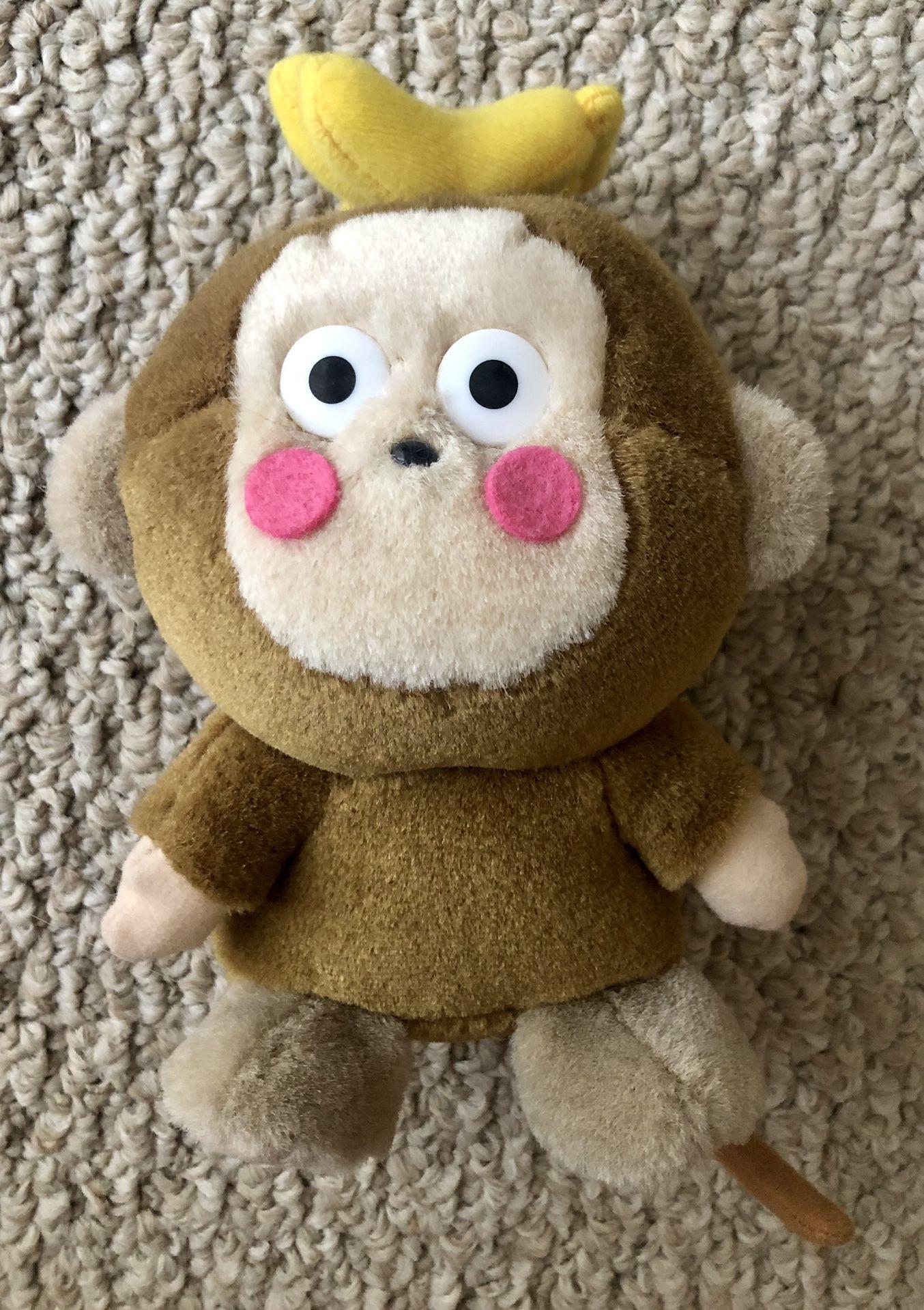 """Sanrio Monkichi Monkey Plush 6"""" Hello Kitty Friend"""