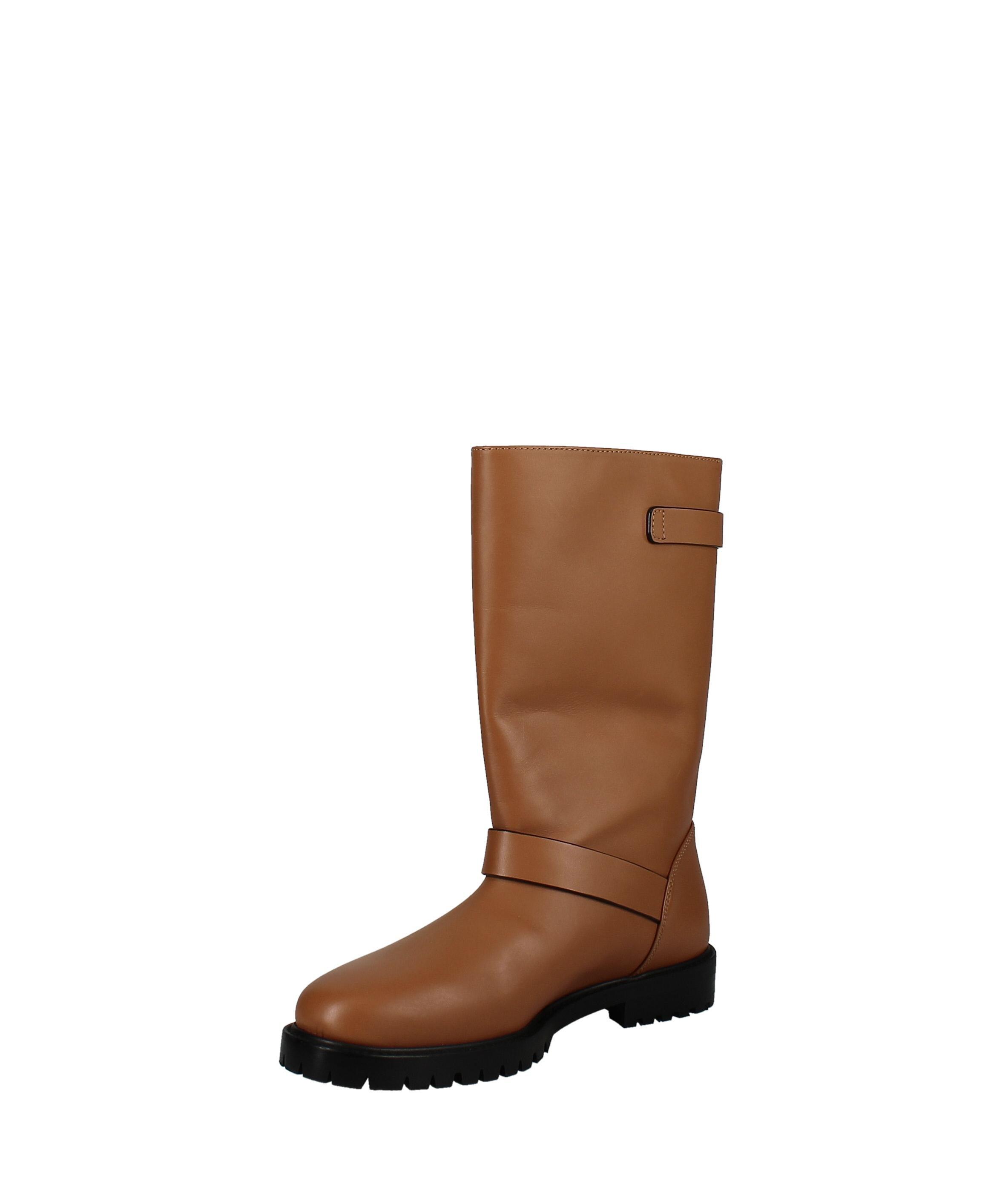 Lafayette 148 | Jordan Moto Leather Boot | Tan | 7 M