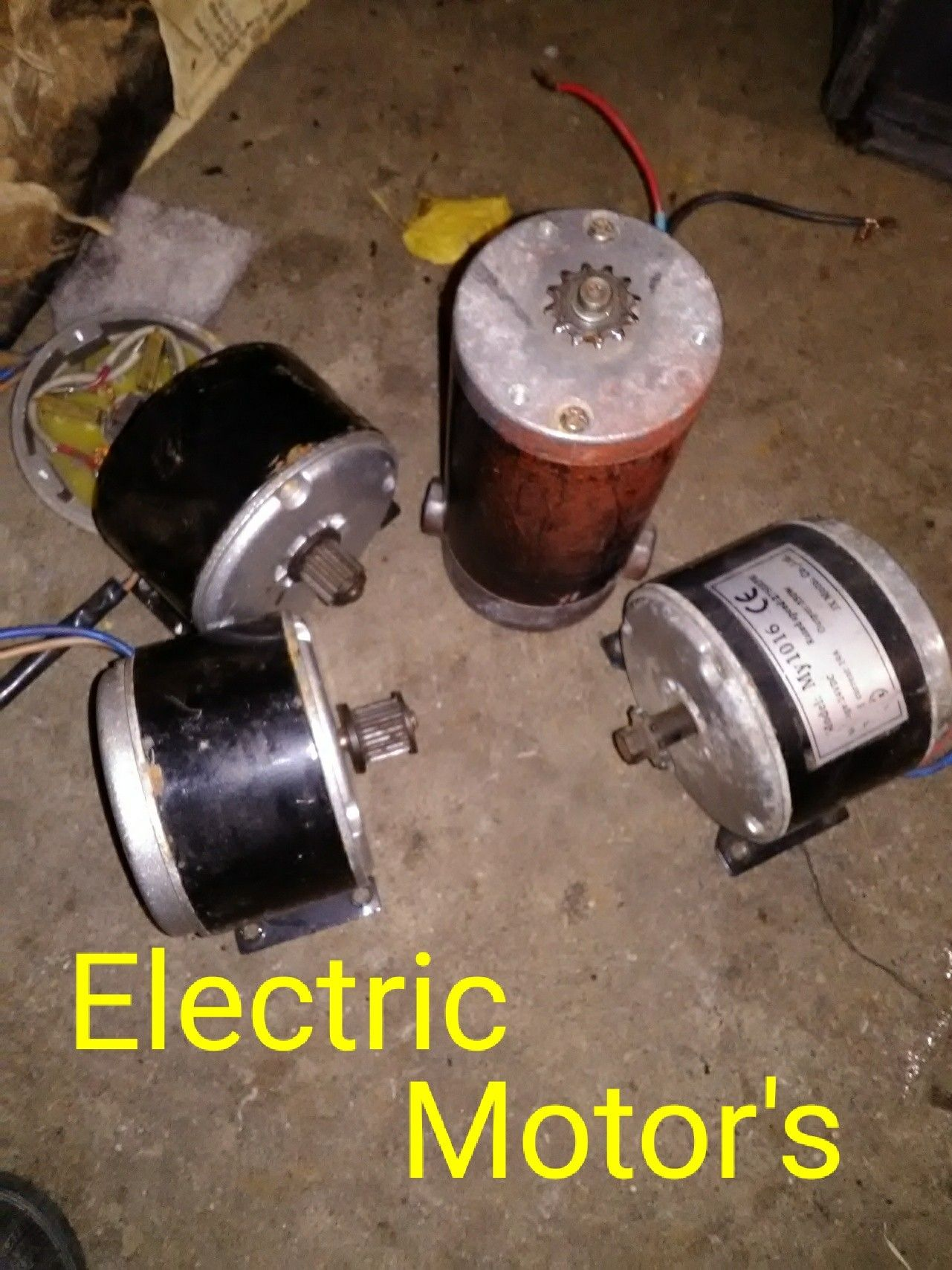 Electric motor's for scooter's and bicycle's