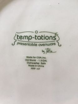 Temptations Old World Black drink dispenser & square baker Thumbnail