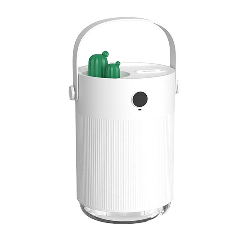Cactus USB Desktop Dual Spray 1L Ultrasonic Air Humidifier With 7 Color LED Light