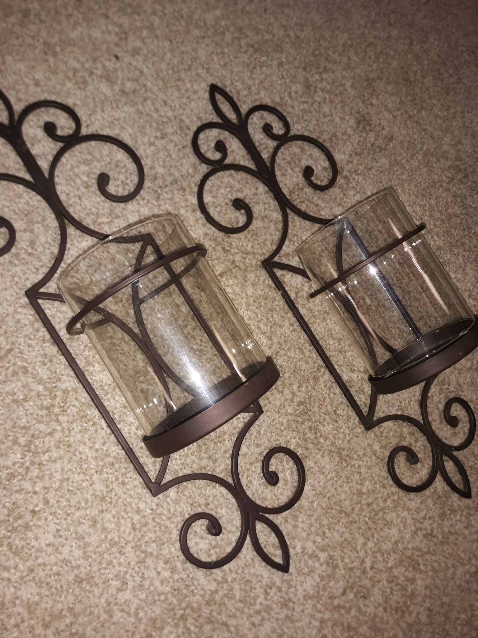 Candle wall sconce set