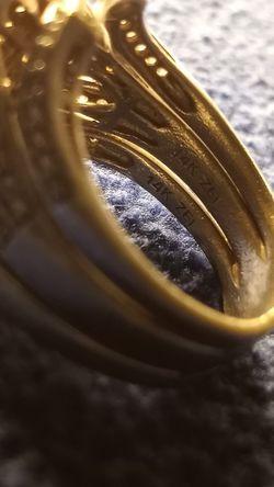 Halo Set, Princess Cut Wedding Ring. Thumbnail