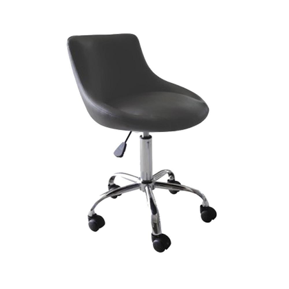 Set of 4 Mars Adjustable Height Massage Stool w/Wheels - Black