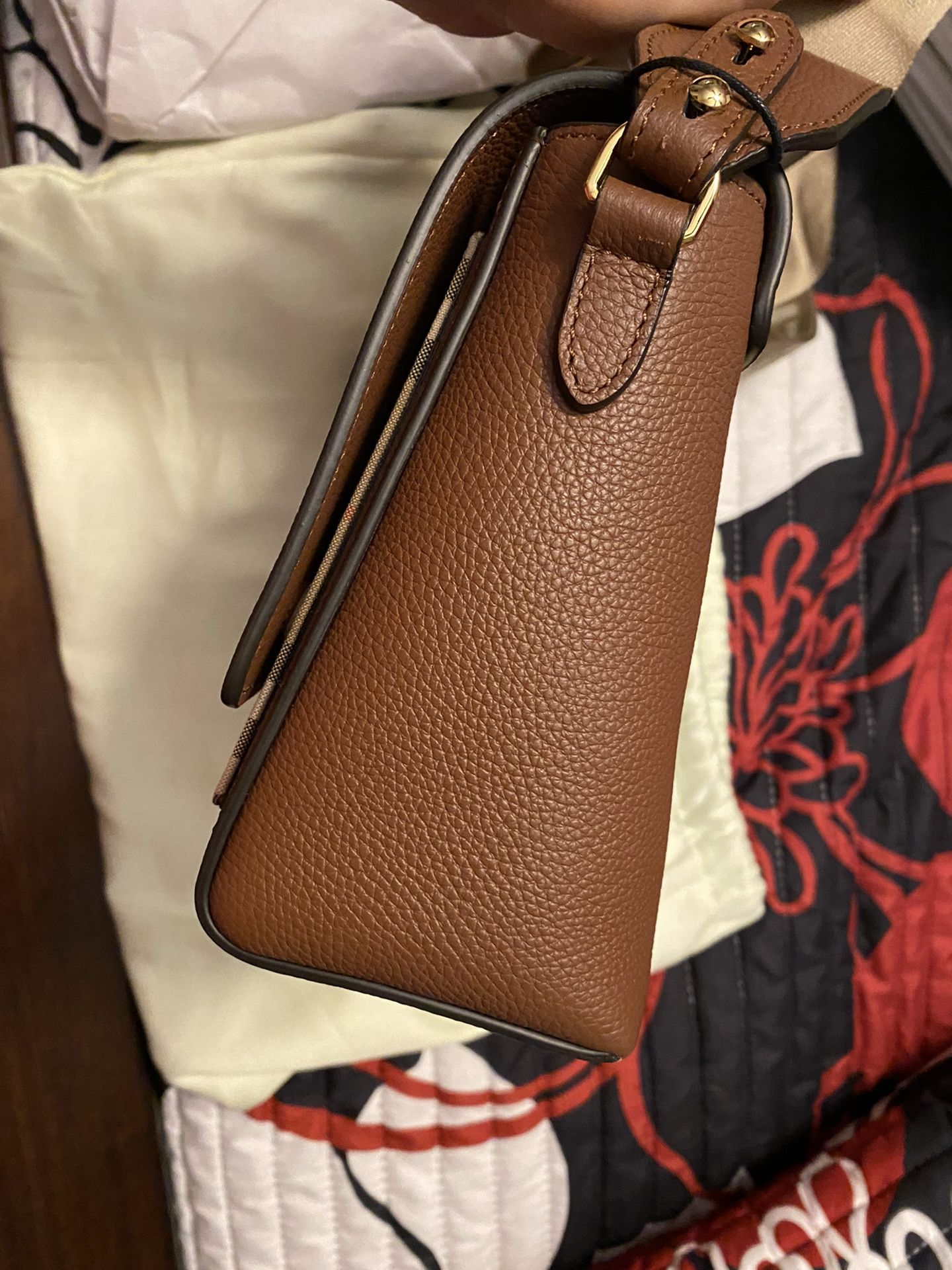 Burberry Leather and Vintage Note Crossbody