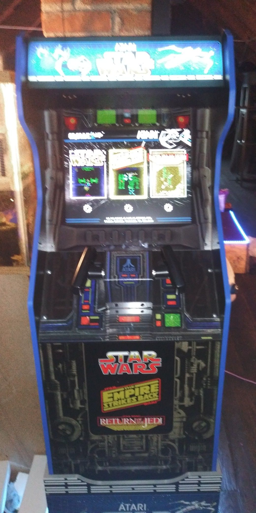 Arcade 1 up bought 3 months ago.i still have the box for it. It's new