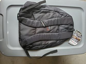 NEW Swiss Gear Student Backpack Black/Black Zipper with Padded Laptop Compartment Thumbnail