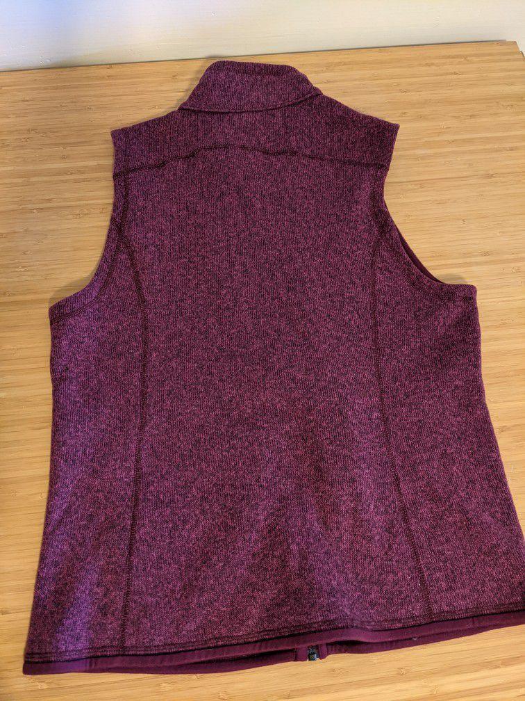 Patagonia Better Sweater Women's Vest Medium Violet Red.