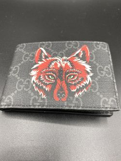 Gucci Wolf Print Wallet GG Supreme Authentic Thumbnail