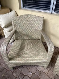 Front porch rattan chairs Thumbnail