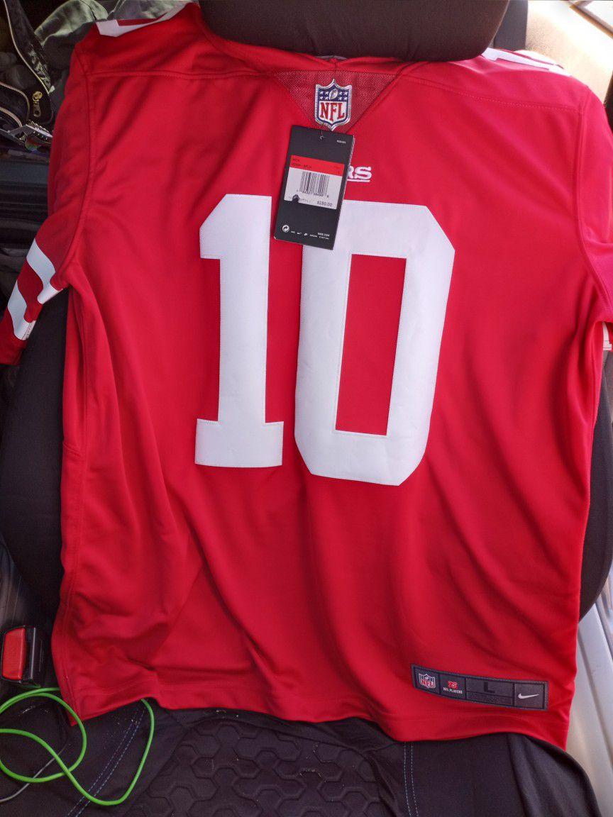 Genuine NFL San Francisco 49ers Jerseys (Bosa( M)) (Garoppolo (L))