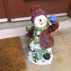 Christmas Welcome Snowman  Thumbnail