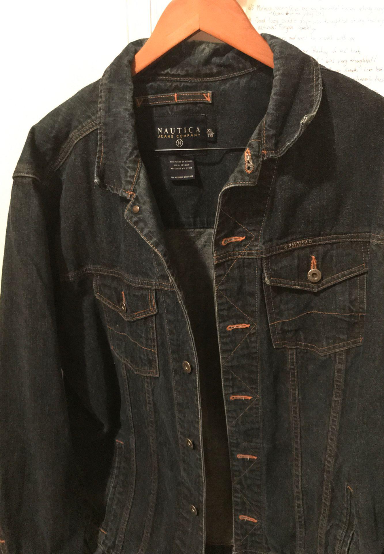 Náutica XL blue denim men's jacket