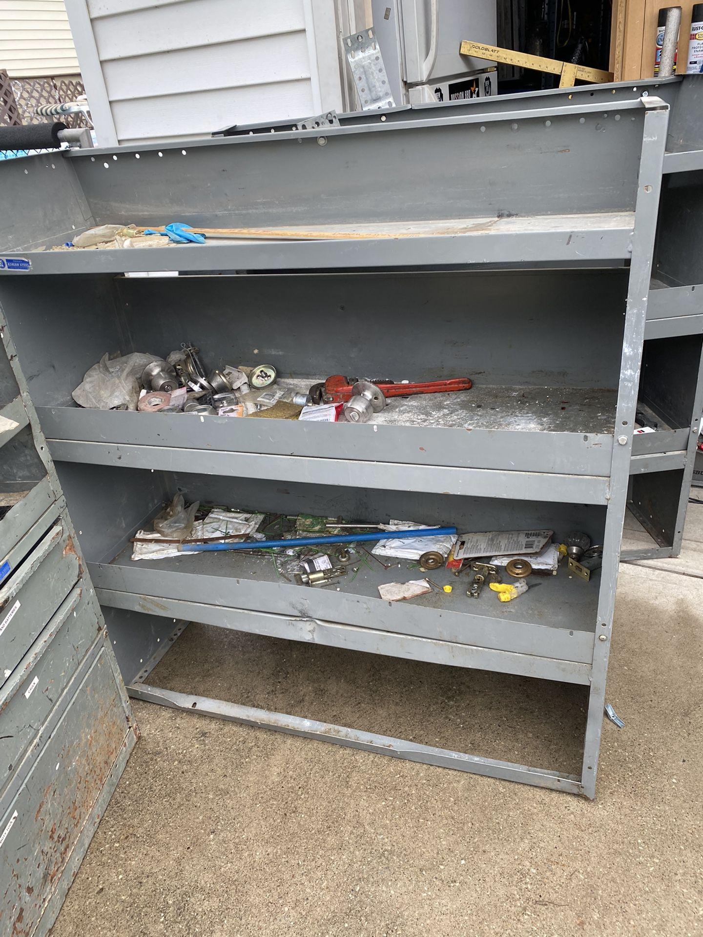 3 Metal Shelves /Storing Cabinets For Vans  $100