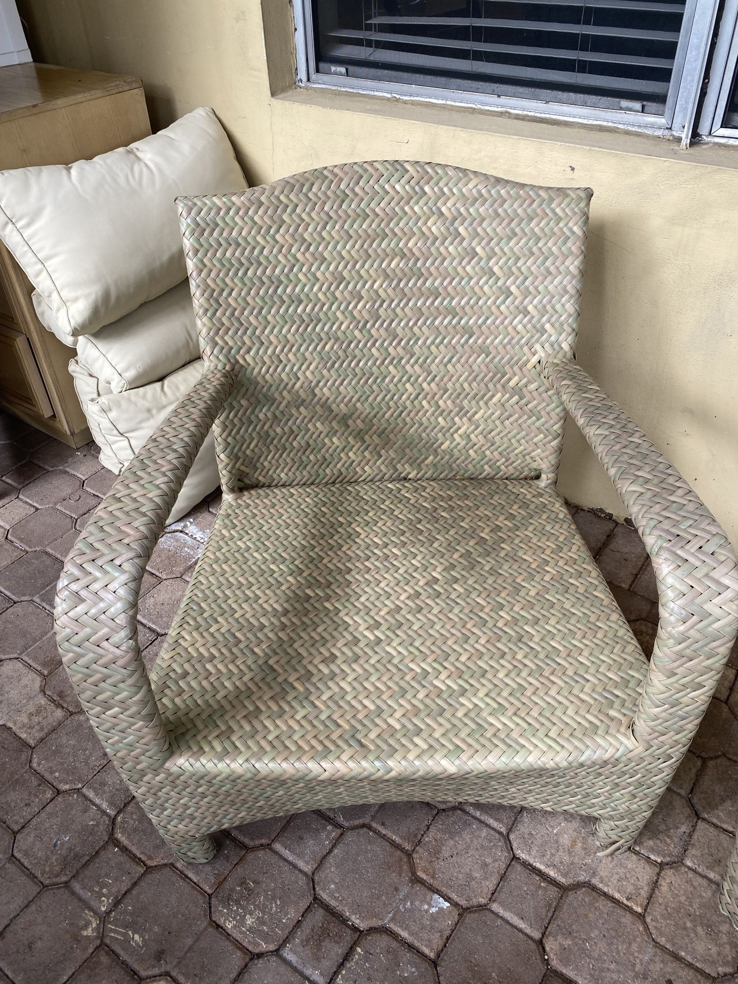 Front porch rattan chairs
