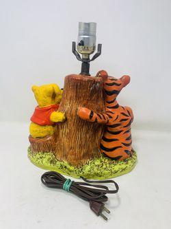 Vintage Winnie The Pooh And Tigger Table Lamp  Thumbnail