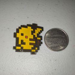 8 Bit Pikachu Pokemon Pin Thumbnail