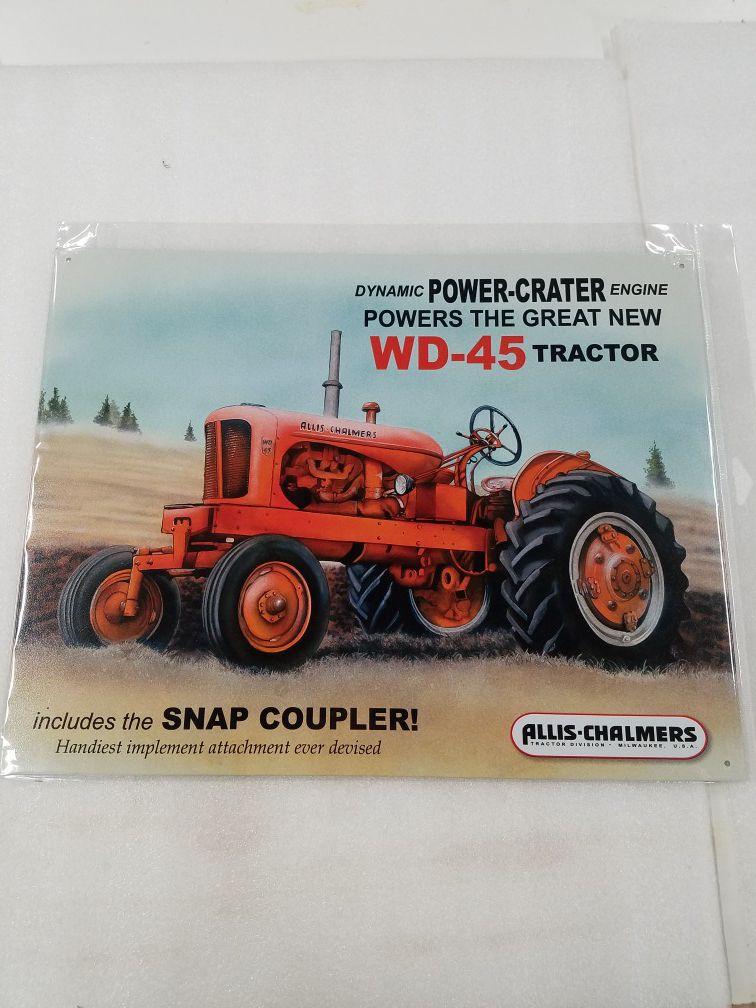 Allis Chalmers farm tractor equipment metal sign