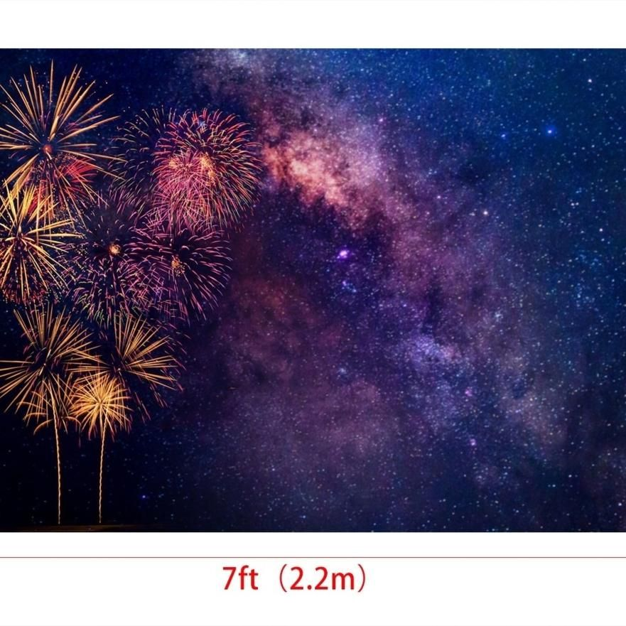 7x5ft Firework Backdrops for Photography Backgrounds Starry Sky Backdrop Photo Booth Props