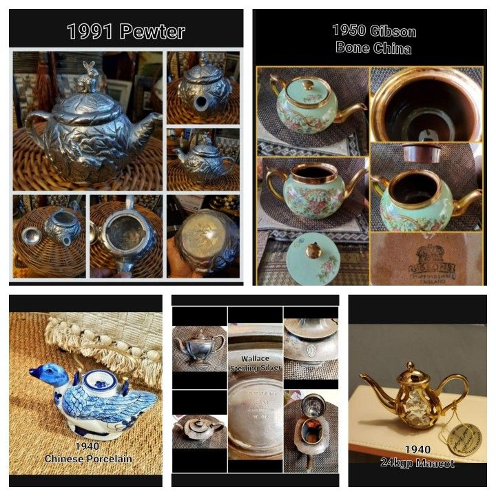 Inventory Of Collectable Vintage Teapots