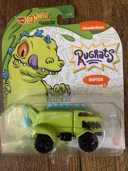 Entire Rugrats Hot Wheels Car With Bonus Reptar Wagon Thumbnail